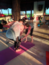Participants with Joanne Matson at Isla Holbox Yoga Retreat 1