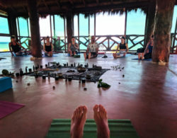 Participants with Victor Varana at Isla Holbox Yoga Retreat 7