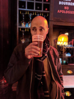 Rob Taylor at Ten Bells Pub Shoreditch London UK 1