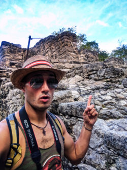 Rob Taylor at the Coba Mayan Ruins Yucatan 1