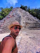 Rob Taylor at the Coba Mayan Ruins Yucatan 2