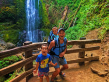 Taylor Family Marymere Falls hiking in Olympic National Park 1