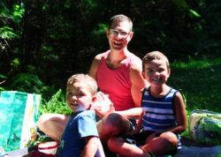 Taylor Family Picnicking at Murhut Falls Olympic National Forest 2