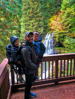 Taylor Family hiking at Panther Creek Falls Columbia Gorge 5