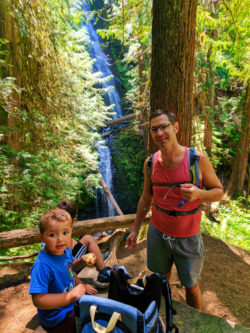 Taylor Family hiking to Murhut Falls Olympic National Forest 7