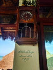 Timeless Clock at Villas Flamingos Isla Holbox Yucatan 2