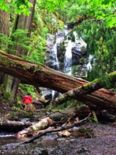 Wandering Daughter TB Waterfalls on Cascase Falls trail Moran State Park San Juans 1