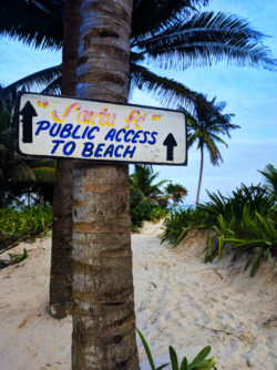 Beach access at Tulum Mayan Ruins National Park Yucatan 2