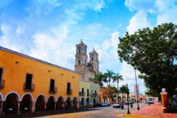 Cathedral in Valladolid Yucatan road trip 14