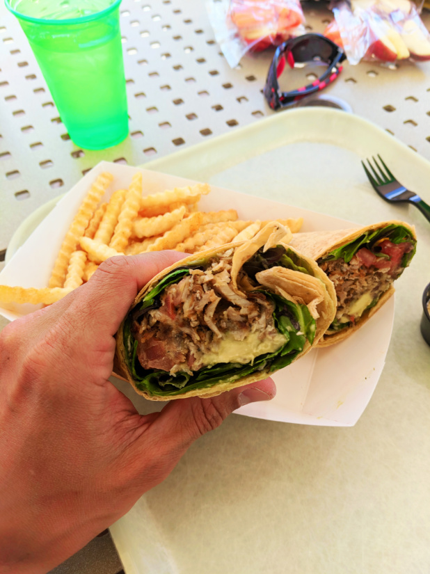 Chicken Wrap From Atomic Tonic Bar At Universal Cabana Bay Resort