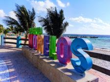 Colorful sign at Puerto Morelos Yucatan Road Trip 1