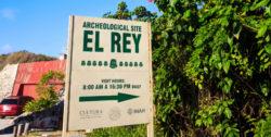 Entrance to El Rey Mayan Ruins Archeological Site Cancun Yucatan 1