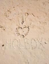 I Heart Holbox in sand Isla Holbox Yucatan 1