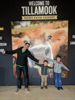 Taylor Family at Tillamook Cheese Factory Oregon Coast