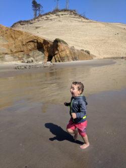 Taylor Family at Cape Kiwanda beach Pacific City Oregon Coast