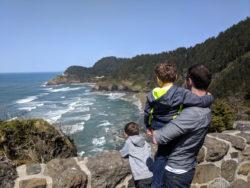 Taylor Family at Haceta Head Lighthouse Viewpoint Oregon Coast