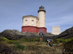 Taylor Family at Coquille River Lighthouse Bullards Beach State Park Oregon Coast