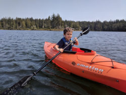 Taylor Family Kayaking at Honeyman State Park Oregon Coast