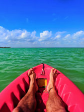 Kayaking in the Caribbean off Isla Holbox Yucatan 1