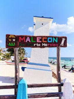 Malecon at Puerto Morelos Yucatan Road Trip 1