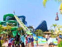 Raft slide at Universal Volcano Bay Water Theme Park Orlando 1
