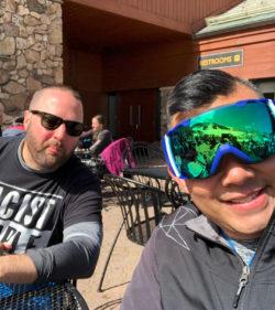 Rich SkiLikeADad hanging Beavercreek Vail Colorado 2018 2