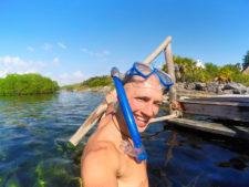 Rob Taylor at Cenote Yal Ku Akumal Yucatan Road Trip 1