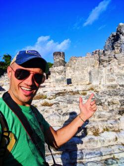 Rob Taylor at El Rey Mayan Ruins Archaeological Site Cancun Yucatan 1