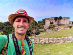 Rob Taylor at Tulum Mayan Ruins National Park Yucatan 1