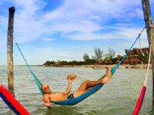 Rob Taylor in hammock Isla Holbox Yucatan Road Trip
