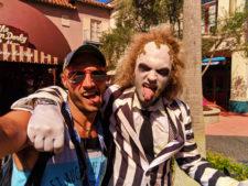 Rob Taylor with Beetlejuice in Universal Studios Florida 1