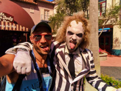 Rob Taylor with Beetlejuice in Universal Studios Florida 1