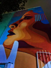 Street Art at night in Playa Del Carmen Yucatan 1