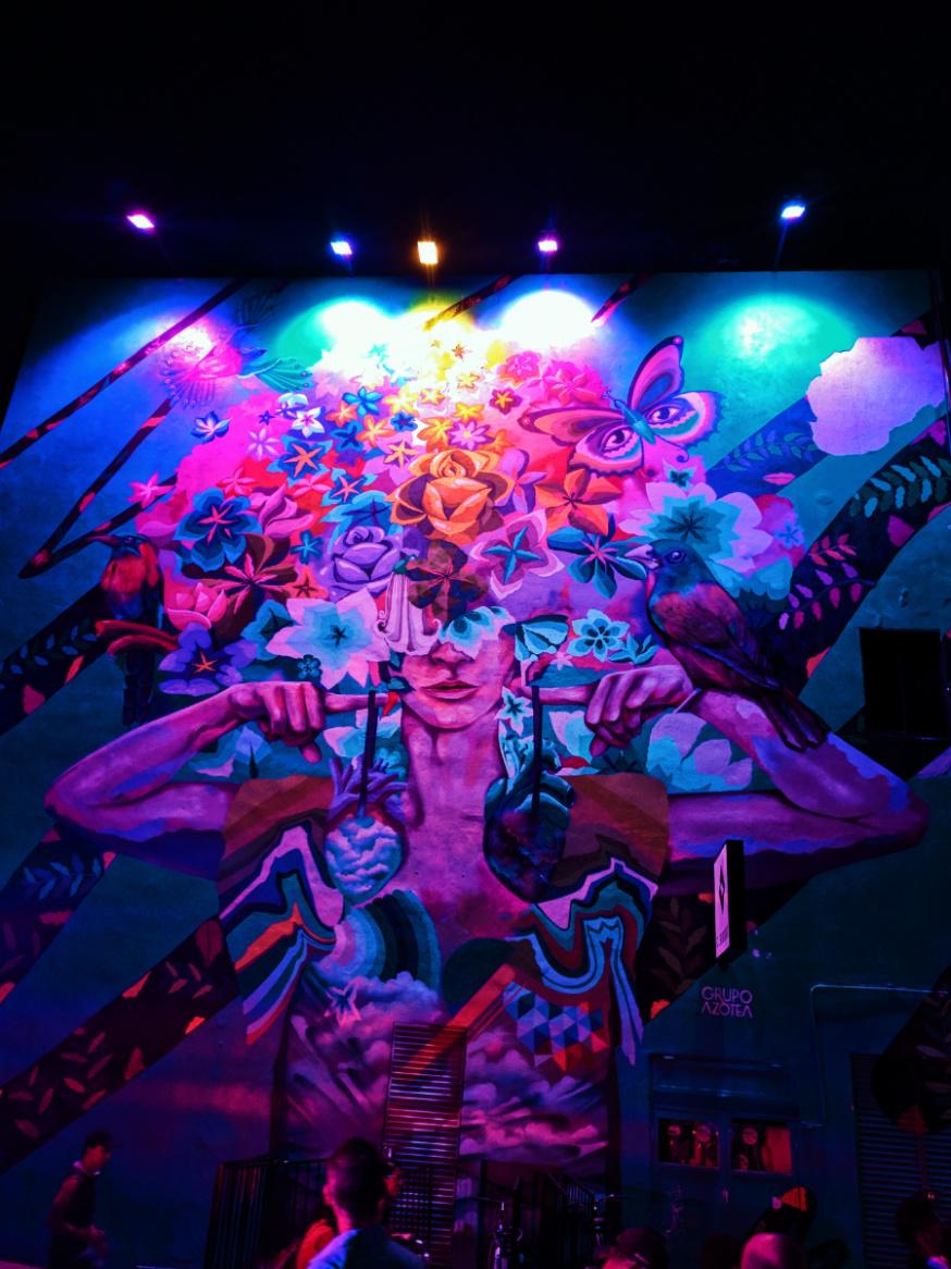 Street Art at night in Playa Del Carmen Yucatan 3