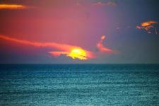 Sunset from Isla Holbox Yoga Retreat 1
