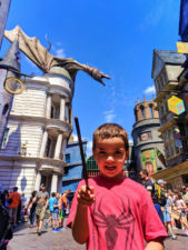 Taylor Family Casting Spells in Diagon Alley Wizarding World of Harry Potter Universal Studios Florida 6