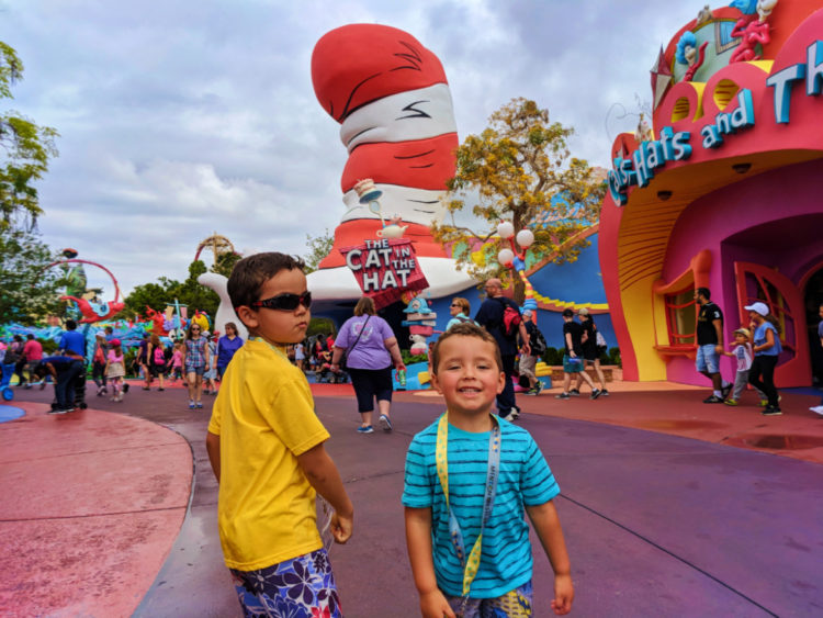 Taylor Family in Seuss Landing Universal Islands of Adventure Orlando 5