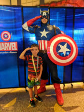 Taylor Family with Captain America Marvel Character Dining Universal Islands of Adventure Orlando 2