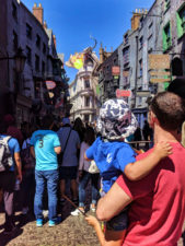 Taylor Family with Dragon in Diagon Alley Universal Studios Florida 2