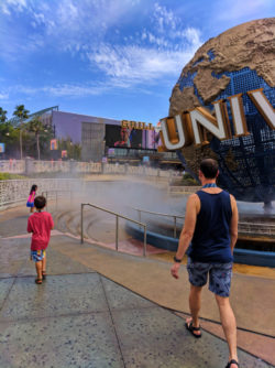 Taylor Family with Globe at Universal Studios Florida 2