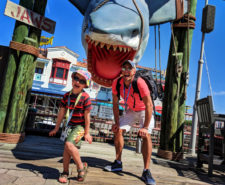 Taylor Family with Jaws in Universal Studios Florida 1