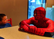 Taylor Family with Spiderman Marvel Character Dining Universal Islands of Adventure Orlando 4