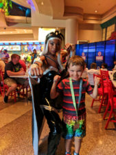 Taylor Family with Storm Marvel Character Dining Universal Islands of Adventure Orlando 1