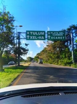 Tulum Road signs Yucatan Road Trip 1