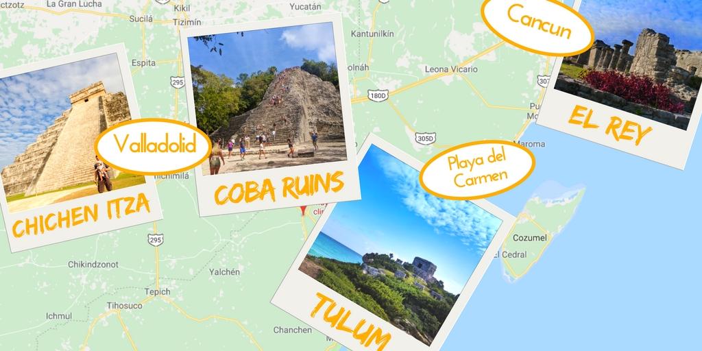 Yucatan Mayan Ruins Map. The best Yucatan Mayan Ruins can all be ...