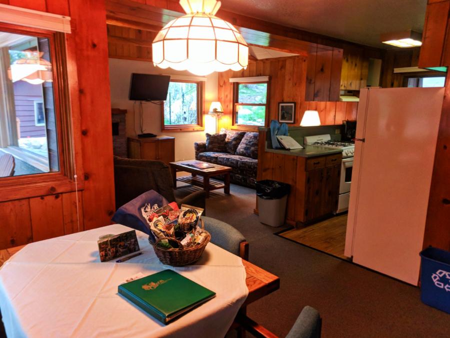 Cabin Interior at McGregor Mountain Lodge Estes Park Colorado 2