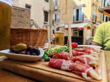 Charcuterie tray cured meats in Old Town Split Croatia 1