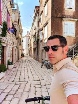 Chris Taylor riding bikes in Vis Croatia 1