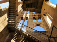 Climbing the bell tower at Cathedral in Old Town Split Croatia 1
