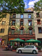 Colorful building Zum Gemalten Haus Sachsenhausen area Frankfurt Germany 1